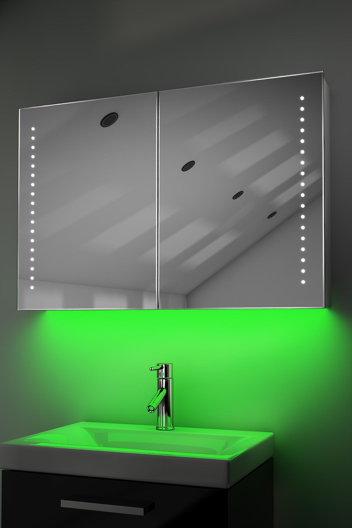 Armoire avec RGB, capteur & interne rasoir k369rgb de désembuage