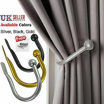 Mare elegant cortina țineți înapoi metal cravată Tassel brațul cârlig bucla titular U în formă de