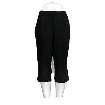 Donne con Control Women's Petite Pantaloni 2XP Solid Capri Black A301327