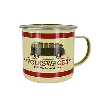 Official VW Camper Van Enamel Tin Mug - Classic T1 Bus