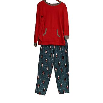 Cuddl Duds Women's Pajama Set Fleecewear Stretch Novelty Red A371296