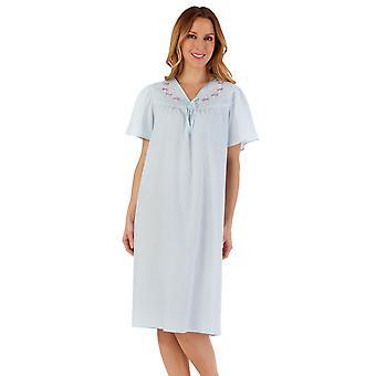 Slenderella ND55204 Women's Embroidered Nightdress