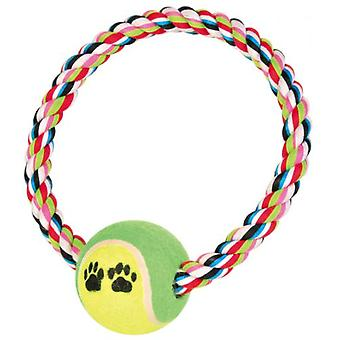 Trixie bomull Ring C / boll Tennis (hundar, leksaker & Sport, bollar, rep)
