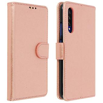 Flip wallet case, magnetic cover with stand for Xiaomi Mi A3 - Rose gold