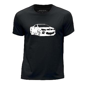 STUFF4 Boy's Round Neck T-Shirt/Stencil Car Art/HSV GTS Maloo Ute/Black