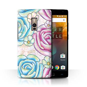 STUFF4 Case/Cover for OnePlus 2/Two/Rose Flowers/Unicorn Party