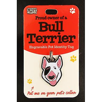 Wags & Whiskers Pet Identity Tag - Bull Terrier