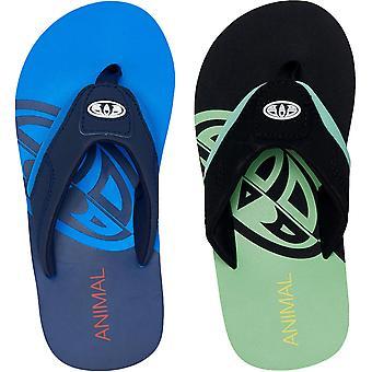 Animal Boys Kids Jekyl Slice Summer Slip On Beach Holiday Flip Flops Sandalen