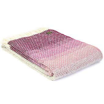 Tweedmill Pure New Wool Ombre Rosewood Throw