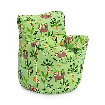 Klaar Steady Bed Rainforest Kids Peuter Fauteuil | Comfortabel kindermeubilair | Soft Child Safe Seat Speelkamer Sofa | Ergonomisch ontworpen zitzakstoel