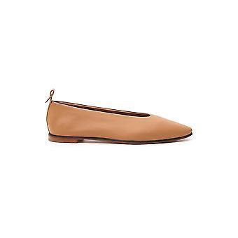 Bottega Veneta 578265vbpa22740 Dames's Nude Leather Flats