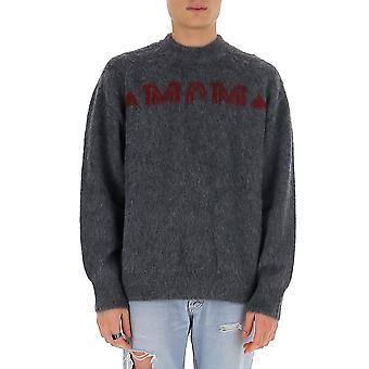 Mcm Mha9ada76eg Men's Grey Wool Sweater