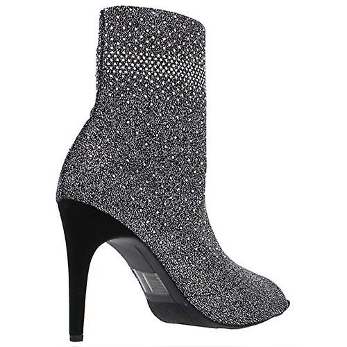 INC Kobiety Rielee 2 Rhinestone Open Toe Ankle Boots Silver 7.5 Medium (B,M) xOH6v