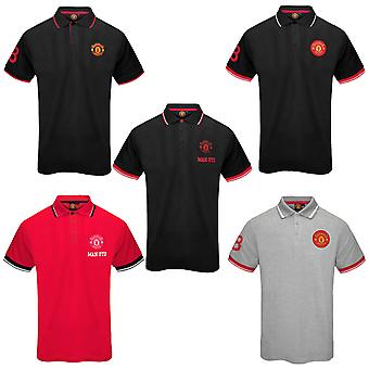 Manchester United FC Official Football Gift Hercrest Polo Shirt