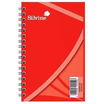 Silvine A6 Twin Wire Spiral Notebook (Pack Of 24)