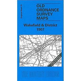 Wakefield e distrito (mapas antigos de O.S. da Inglaterra) [fac-símile] [mapa dobrado]