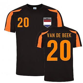 Donny Van de Beek Holland Sport Utbildning Jersey (Svart-Orange)