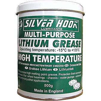 Silverhook Lithium Grease for Extreme Pressure and High Temperatures for Multi Purpose in 500 g Tin