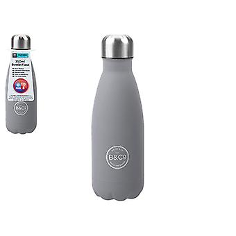 B&Co Hamelin 350ml Bottle Flask Grey
