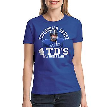 Married With Children Touchdown Game Women's Royal Blue T-shirt
