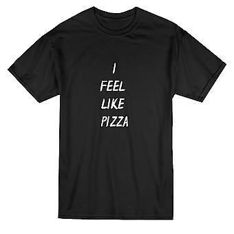 Я чувствую, как пицца цитата Мужская футболка