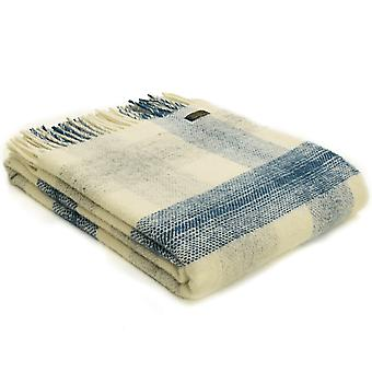Tweedmill Pure New Wool Meadow Check Ink Throw