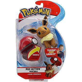 Pokémon Pop Action Poke Ball Eevee & Poke Ball Throw Poke Ball Plush
