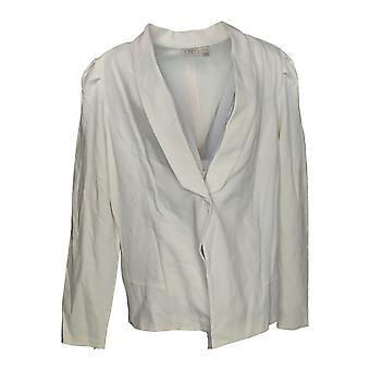 LOGO by Lori Goldstein Women's Blazer Stylist Ponte White A351667