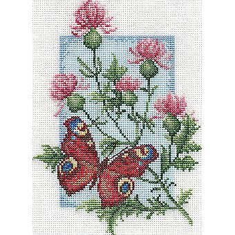 Panna Cross Stitch Kit : Peacock Butterfly