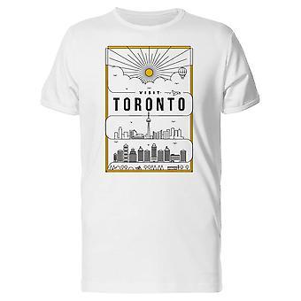 Besøk Toronto plakat Tee menn-bilde av Shutterstock