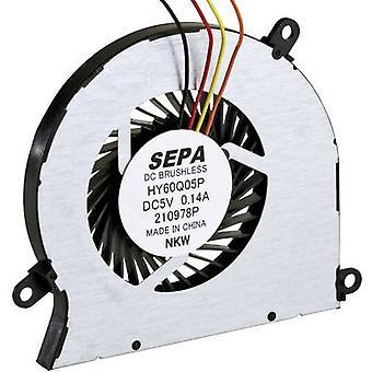 SEPA HY60Q05PSE04A Radial extractor 5 V DC 4.1 m³/h (L x W x H) 60.9 x 5 x 56.4 mm