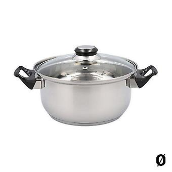 Pot with Glass Lid Quid Habitat Stainless steel 30cm