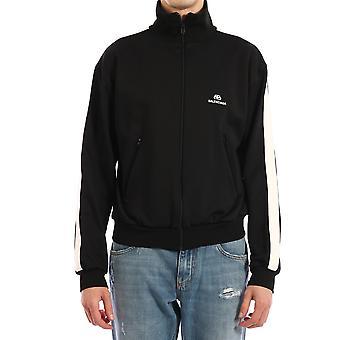 Balenciaga 601727tgv041070 Men's Black Nylon Sweatshirt