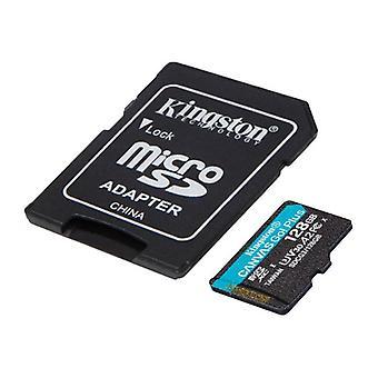 Micro SD -muistikortti, jossa sovitin Kingston SDCG3 Black