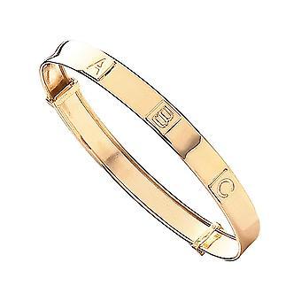 Evigheten 9ct Gold Baby / Kids ABC Expander Armband