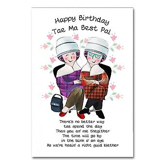 Embroidered Originals Happy Birthday Tae Ma Best Pal Card