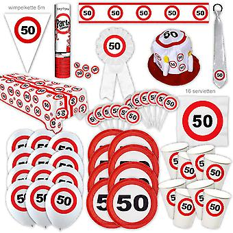 50e verjaardag partij pakket Traffic Sign Design Decoratie Nummer 16 Party Party Box Party Pakket