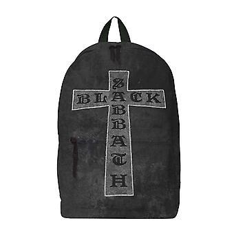 Black Sabbath Ryggsäck Väska Klassiska Cross Band Logo nya officiella Rocksax Black