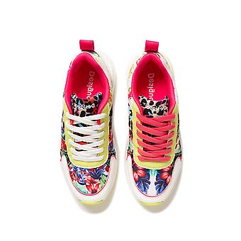 Desigual Hydra Leopard Sneakers Pumps with Neon Bright Print