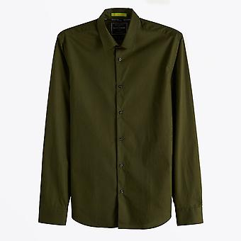 Scotch & Soda  - Slim Fit Stretch Shirt - Green