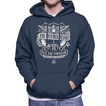 Route 66 Mother Road Crest Men's Hooded Sweatshirt