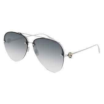 Alexander Mcqueen AM00270S 001 Silver/Grey Gradient Sunglasses