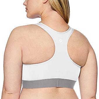 Marke - Core 10 Frauen's Plus Größe Medium Support Kompression Sport BH - keine abnehmbaren Tassen, weiß, 2X