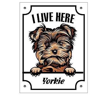 Tin Plate Yorkshire Terrier - Yorkie Kikande Dog Sign