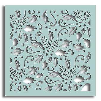 Polkodoodles Holly Flourish 6x6 Pouces Pochoir