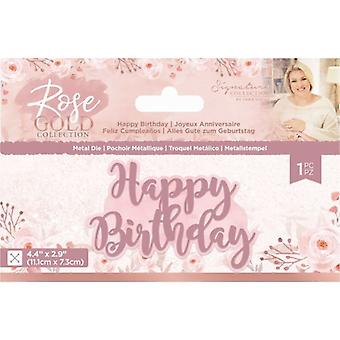 Crafter's Companion Rose Gold Happy Birthday Die