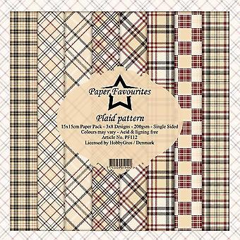 Dixi Craft Plaid Pattern 6x6 Inch Paper Pack