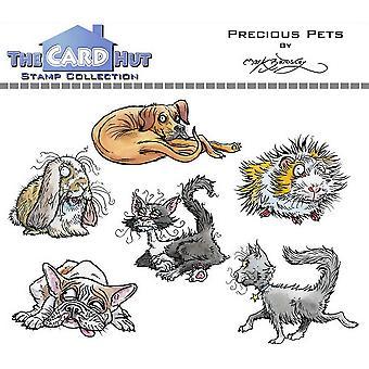 Kortet Hut Precious Husdjur Clear Frimärken
