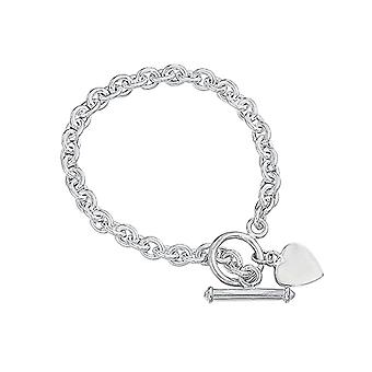The Olivia Collection Ladies Sterling Silver 18-20 Gram T-Bar Bracelet  7.5 Inches CL282