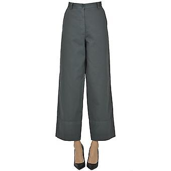 Dries Van Noten Ezgl093178 Women's Grey Cotton Pants